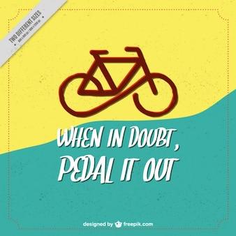 Fundo moderno bicicleta com um citações inspiradas