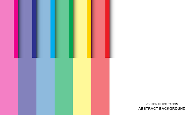 Fundo moderno branco e design de cores do arco-íris