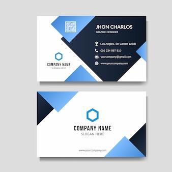 Fundo moderno cartão azul