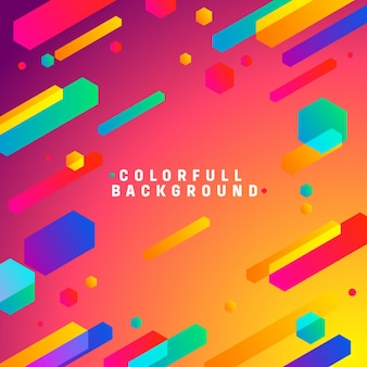 Fundo moderno colorfull