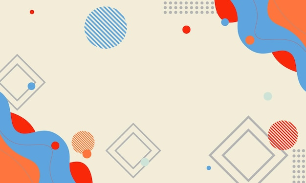 Fundo moderno colorido abstrato de memphis. design moderno e simples para seu site.
