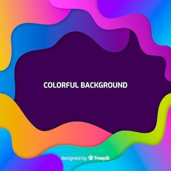 Fundo moderno com formas abstratas coloridas