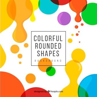 Fundo moderno com formas arredondadas coloridas