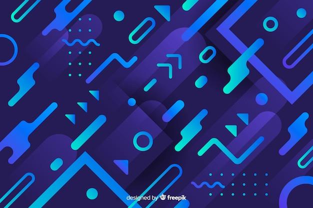 Fundo moderno com formas dinâmicas gradientes