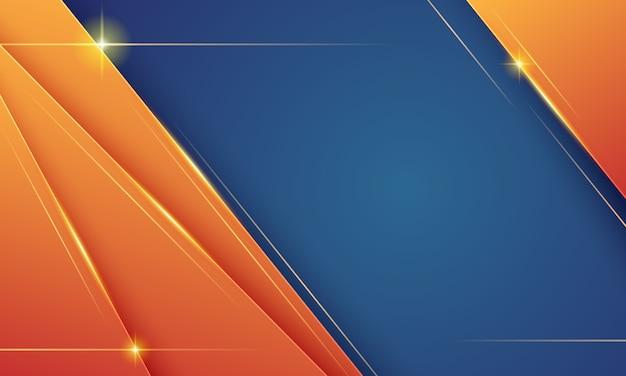 Fundo moderno com luz estelar em azul e laranja
