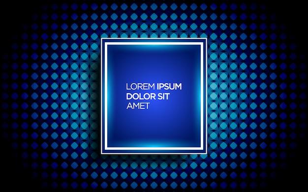 Fundo moderno com padrão abstrato e efeito de néon
