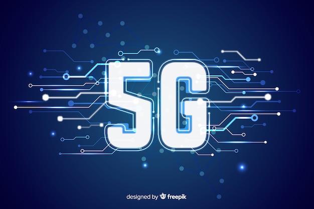 Fundo moderno com tecnologia 5g