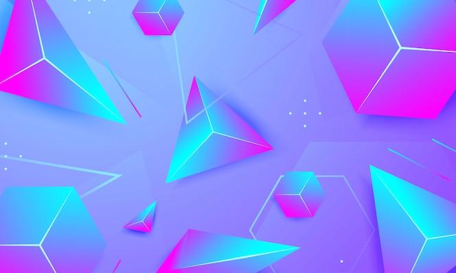 Fundo moderno com triângulo e hexágono