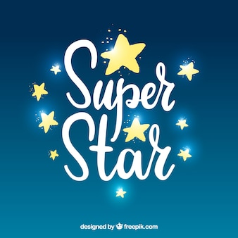 Fundo moderno da estrela brilhante com letras