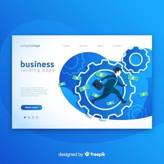 Fundo moderno da página de destino de negócios