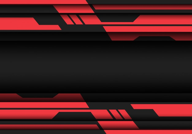 Fundo moderno da tecnologia do projeto futurista do cyber geométrico cinzento vermelho.