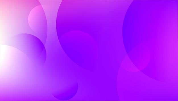 Fundo moderno de círculos roxos brilhantes