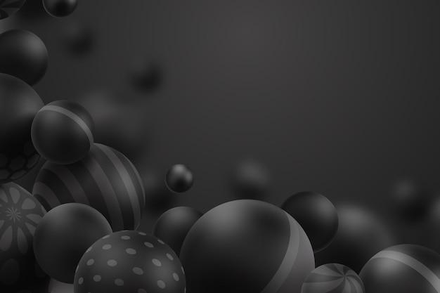 Fundo moderno de esferas tridimensionais