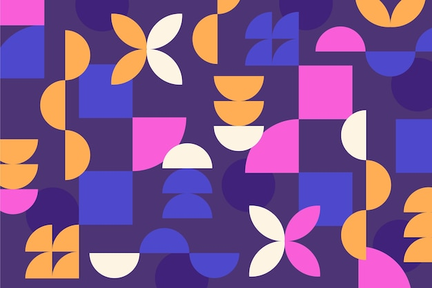 Fundo moderno de formas geométricas abstratas