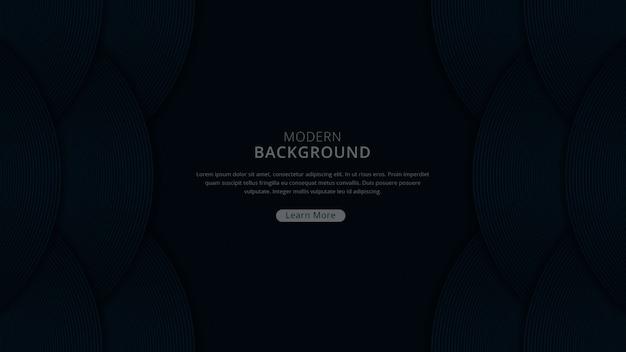 Fundo moderno de luxo com tema de cor da marinha escura de forma curva vetor premium