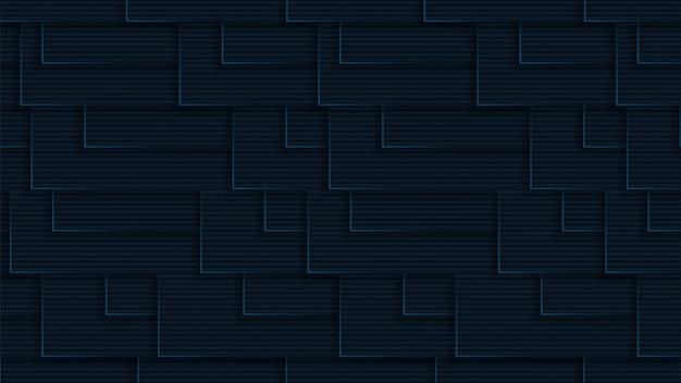 Fundo moderno de luxo com tema de cor marinha escura de forma geométrica vetor premium