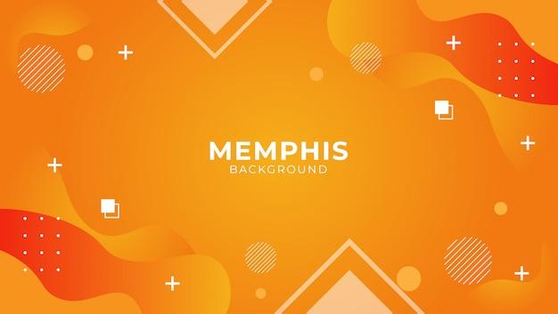 Fundo moderno de memphis com elementos