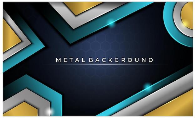 Fundo moderno de metal brilhante