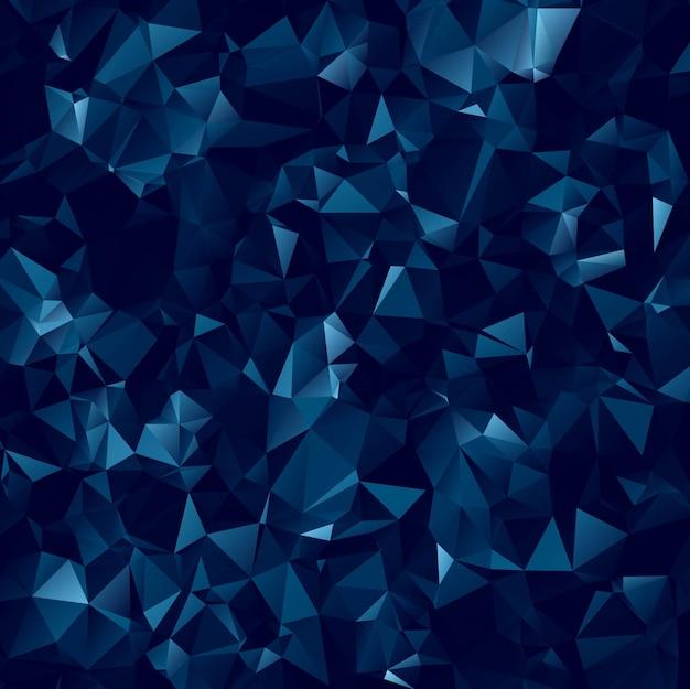 Fundo moderno de polígono azul