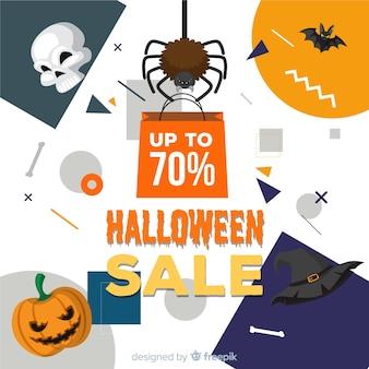 Fundo moderno de venda de halloween