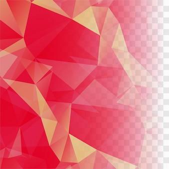 Fundo moderno de vetor de polígono rosa