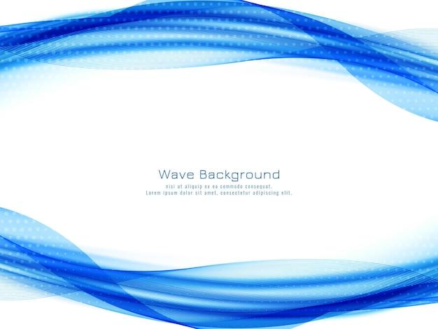 Fundo moderno decorativo de onda azul