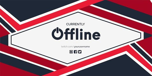 Fundo moderno do banner twitch atualmente off-line