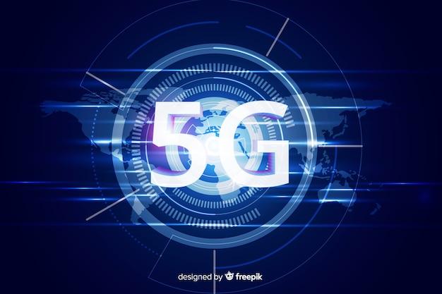 Fundo moderno do conceito 5g
