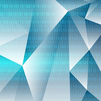 Fundo moderno do tema da tecnologia geométrica