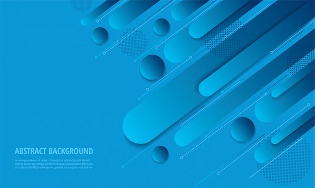 Fundo moderno gradiente azul moderno