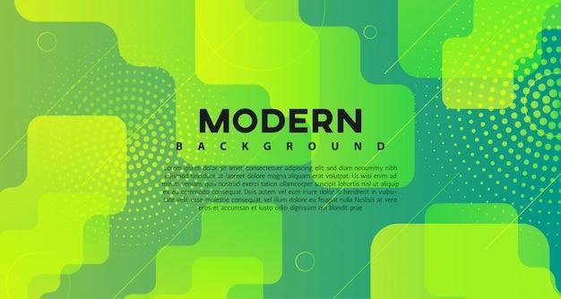 Fundo moderno gradiente geométrico verde