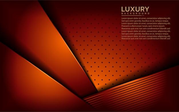 Fundo moderno laranja de luxo