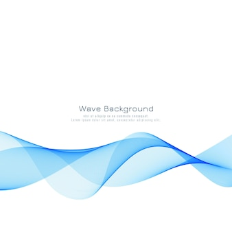 Fundo moderno onda azul elegante