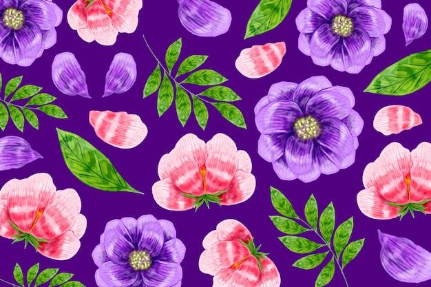 Fundo moderno padrão floral