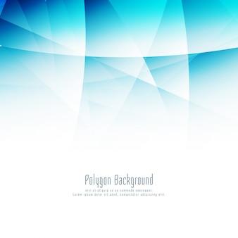 Fundo moderno polígono azul abstrato