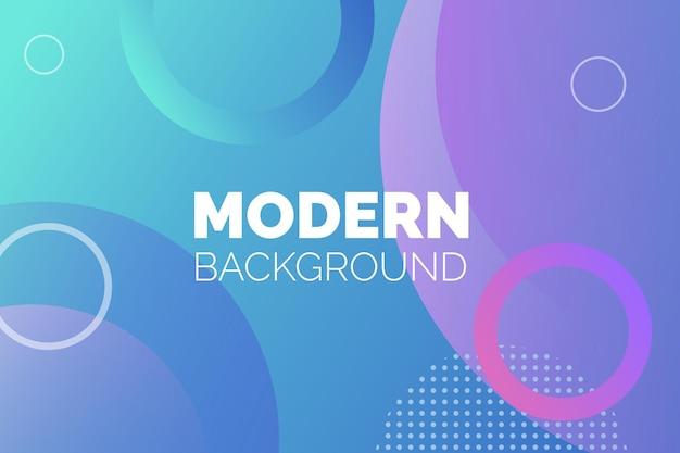 Fundo moderno redondo colorido