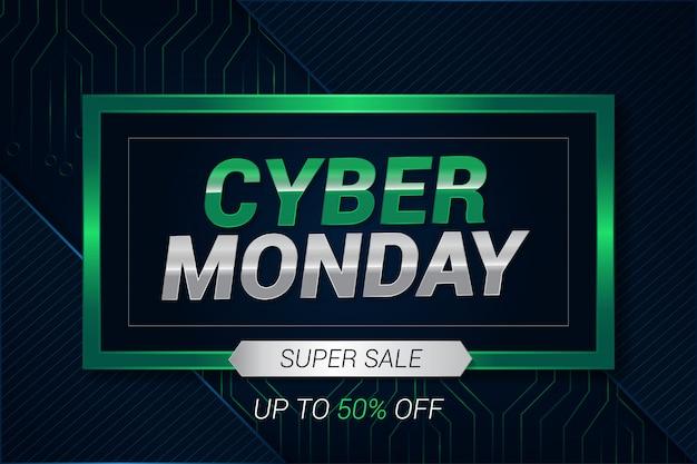Fundo moderno simples para venda super de cyber segunda-feira