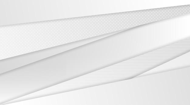 Fundo monocromático branco gradiente Vetor grátis