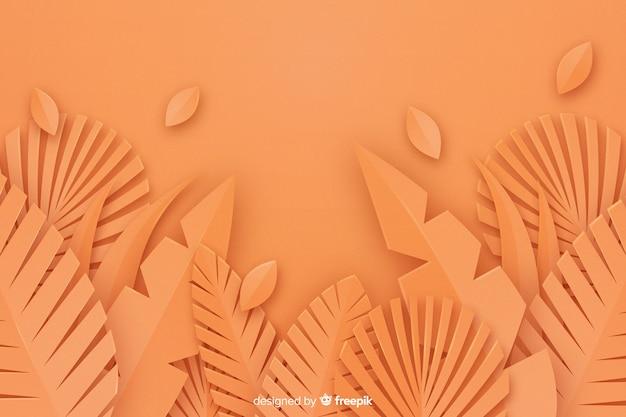 Fundo monocromático de folhas laranja