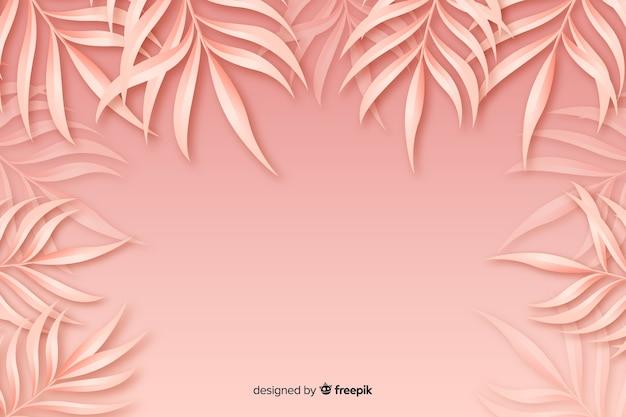 Fundo monocromático de folhas rosa