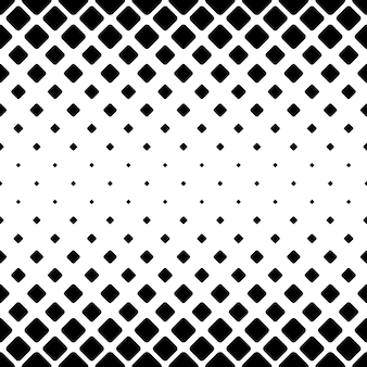 Fundo monocromático de padrão quadrado abstrato - design de vetor geométrico preto e branco a partir de quadrados diagonais arredondados