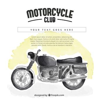Fundo moto watercolor