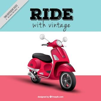 Fundo motor de scooter realista