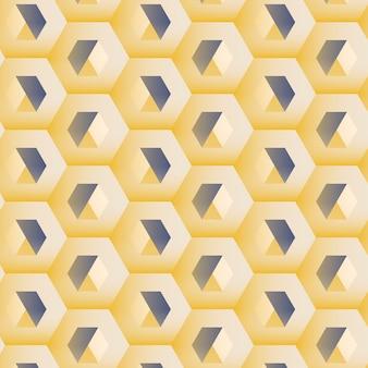 Fundo multicolorido 3d padrão hexagonal