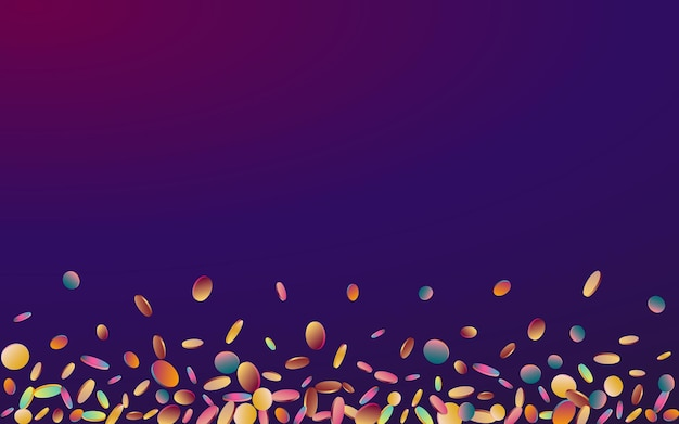 Fundo multicolorido do roxo do carnaval da polca. convite de confete superior do arco-íris.