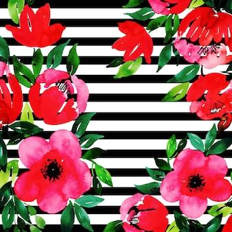 Fundo multiuso floral em aquarela
