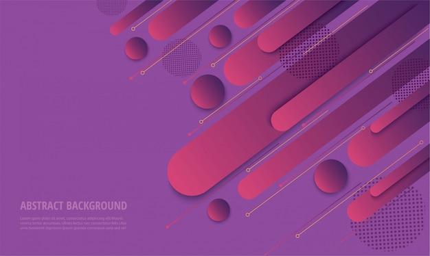 Fundo na moda gradiente roxo moderno