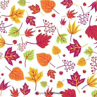 Fundo natural de mão desenhada de outono