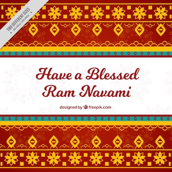 Fundo navami ram decorativa