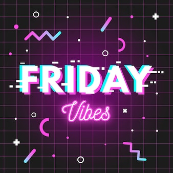 Fundo neon do friday vibes